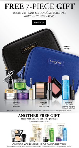 Event Dillard S Lancome Gift With Purchase Killeen Mall