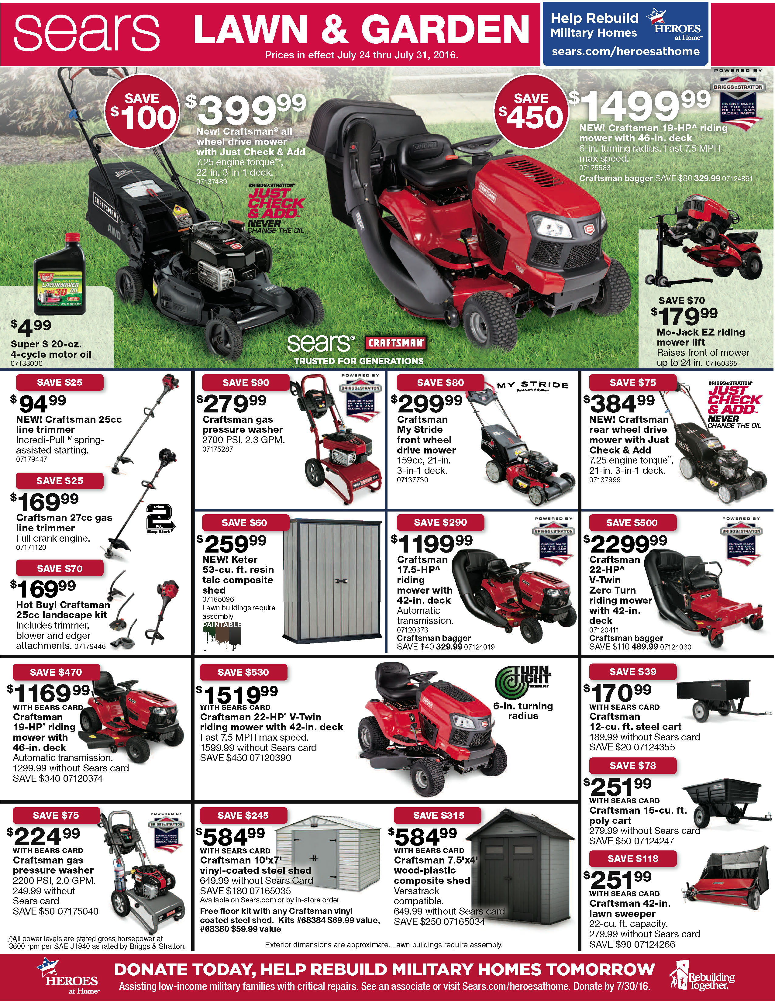 Sears Lawn And Garden Sale